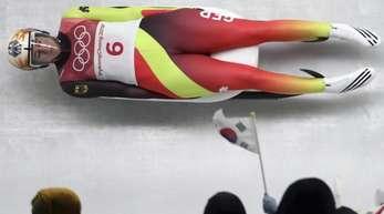 Natalie Geisenberger im Eiskanal.