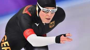 Claudia Pechstein kam im 5000-Meter-Rennen nicht über Platz acht hinaus.