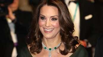 Die Herzogin von Cambridge, Kate, kam in Grün in die Royal Albert Hall.
