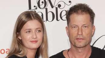 Til Schweiger mit seiner Tochter Lilli beim Empfang Medienboard der Berlinale.