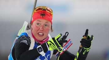 Laura Dahlmeier und die deutsche Staffel kamen nicht über Platz acht hinaus.
