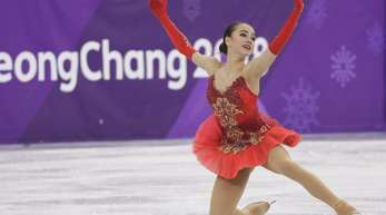 Alina Sagitowa gewann bei den Winterspielen das erste Gold für die «Olympischen Athleten aus Russland».