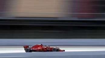 Sebastian Vettel fuhr in seinem Ferrair am Schlusstag auf dem Circuit de Catalunya die schnellste Zeit.