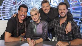 Die Juroren der Casting-Show «American Idol»: Lionel Richie (l-r), Katy Perry, Ryan Seacrest and Luke Bryan.