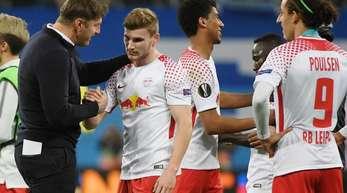 RB-Leipzig Trainer Ralph Hasenhüttl bedankte sich bei seinen Spielern.