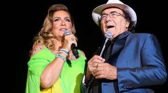 Das italienische Pop-Duo Al Bano (bürgerlich Albano Carrisi) und Romina Power in Hamburg.