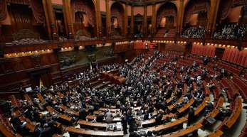 Blick in das italienische Parlament in Rom.