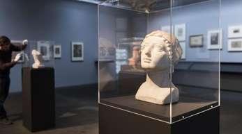 Die Skulptur «Weiblicher Kopf» des französischen Künstlers Aristide Maillol imKunstmuseum Bern.