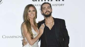 Heidi Klum und Tom Kaulitz kommen zur amfAR-Benefiz-Veranstaltung «Cinema Against AIDS».