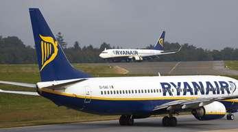 Ryanair-Maschinen auf dem Vorfeld des Flughafens Hahn. Europas größter Billigflieger bleibt auf Wachstumskurs.