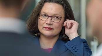 SPD-Parteichefin Andrea Nahles Anfang Mai bei einem Besuch inSchleswig-Holstein.