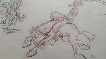Eine Zeichnung von Wolfgang Reitherman für den Kurzfilm «El Gaucho Goofy» (1942).