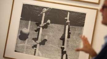 Ganz nah dran:Eine Arbeit aus der Serie «Kicker» von Sigmar Polke.