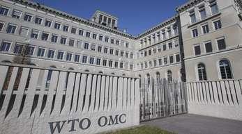 Blick auf das Hauptgebäude der Welthandelsorganisation WTOinGenf.