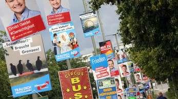 Plakate für die Bundestagswahl 2017:Beim Urnengang nahm die AfD der Union viele Wählerstimmen ab.