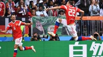 Russland gewann das WM-Eröffnungsspiel gegen Saudi-Arabien mit 5:0.