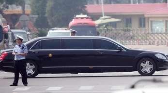 In diesem Fahrzeug soll Kim Jong Un den Internationalen Flughafen von Peking verlassen haben. Nordkoreas Machthaber besucht die chinesische Hauptstadt.