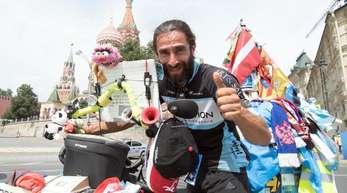 Matyas Amaya hat es geschafft: Er ist in Moskau angekommen.
