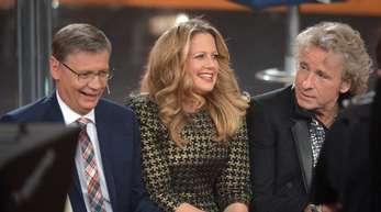 Die Moderatoren Günther Jauch, Barbara Schöneberger und Thomas Gottschalk (l-r) bekommen ab Herbst eine neue Show bei RTL.
