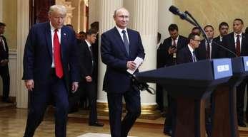 Donald Trump und Wladimir Putin haben ihre Gespräche in Helsinki beendet.