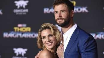 Elsa Pataky und Chris Hemsworth haben Schwung.
