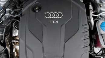 Ein Dieselmotor TDI in einem Audi.