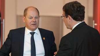 Bundesfinanzminister Olaf Scholz am zweiten Tag des Treffens der G20-Finanzminister und Notenbankchefs.