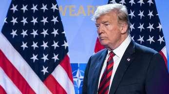 Donald Trump, Präsident der USA, beim Abschluss des Nato-Gipfels.