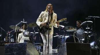 Arcade Fire auf der Bühne.
