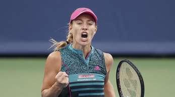 Angelique Kerber steht beim Turnier in Cincinnati im Achtelfinale.