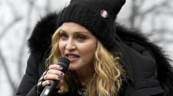 Madonna beim «Marsch der Frauen» in Washington (2017). Jetzt wird die Sängerin 60.