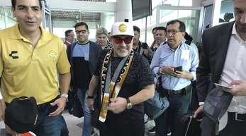 Maradona wrd Trainer des mexikanischen Zweitligisten Dorados de Sinaloa.