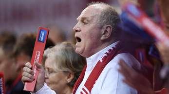 Großer Fan der Bayern-Basketballer: Clubpräsident Uli Hoeneß.
