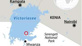 Der Victoriasee liegt in Tansania, Uganda und Kenia. Tödliche Unfälle kommen auf dem See sowie vor der Küste immer wieder vor. Grafik: dpa-infografik