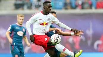 Leipzigs Jean-Kévin Augustin war zusammen mit Nordi Mukiele nicht im RB-Kader in Frankfurt.