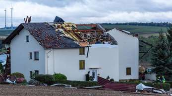 Abgedeckte Dächer in Nieder-Olm in Rheinland-Pfalz.