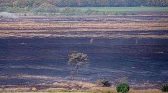 Das brennende Moor auf dem Bundeswehr-Testgelände bei Meppen.