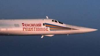Ein russischer Kampfbomber des Typs Tupolew TU-160 «Blackjack».