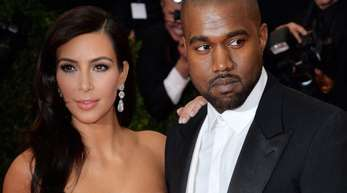 Kim Kardashian und Rapper Kanye West bei der Anna Wintour Costume Center Gala im Metropolitan Museum of Art.
