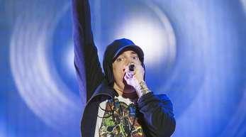 """US-Rapper Eminem bei einem Auftritt auf dem """"Austin City Limits Music Festival""""."""