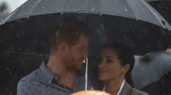 Prinz Harry und Herzogin Meghan brachten den Regen nach Australien.