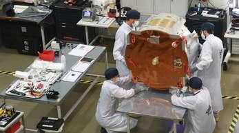 Der Forschungssatellit soll als fliegendes Gewächshaus um die Erde kreisen.