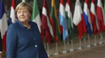 Bundeskanzlerin Angela Merkel bei ihrer Ankunft zum EU-Gipfel.