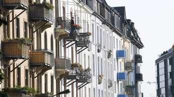 Wohnhäuser im Stadtteil Ostend in Frankfurt am Main.