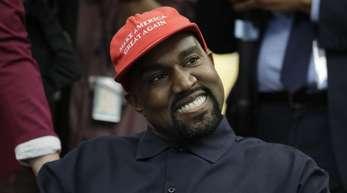 Kanye West bei einem Treffen mit US-Präsident Trump im Weißen Haus.