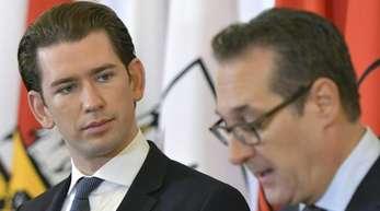 Österreichs Kanzler Sebastian Kurz (l) und Vizekanzler Heinz-Christian Strache in Wien.