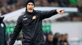 Leverkusens Trainer Heiko Herrlich war zufrieden nach dem Sieg gegen Zürich.