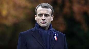 Frankreichs Präsident Emmanuel Macron erinnert an das Ende des Ersten Weltkrieges vor 100 Jahren.