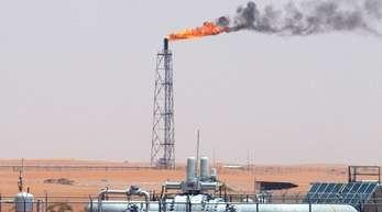 Technische Anlagen auf dem Khurais-Ölfeld, das rund 160 Kilometer von Riad entfernt.