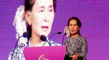 Aung San Suu Kyi, Regierungschefin von Myanmar, ist nicht mehr «Botschafterin des Gewissens».